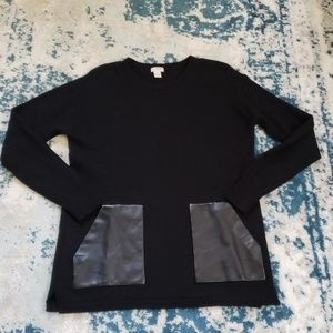 J.Crew sweater with leather pockets